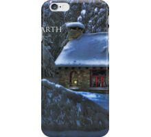 Peace on Earth, Moonlight on the Stone House Christmas card iPhone Case/Skin