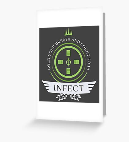 Magic the Gathering - Infect Life Greeting Card