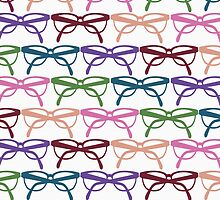 Optometrist Colorful Frames Pattern Print by red addiction