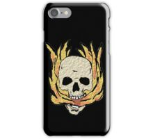 Burning skull iPhone Case/Skin
