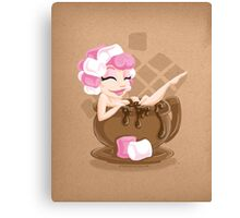 Sweet <3's - Miss Cocoa Canvas Print