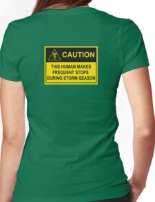 CAUTION - Storm Chaser Alert (Tornado) Womens Fitted T-Shirt