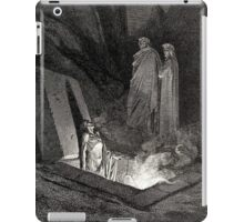 The Divine Comedy, Gustave Doré, Dante, Woodcut illustration, The Inferno, Canto 10. iPad Case/Skin