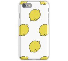 doodle lemon pattern iPhone Case/Skin