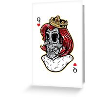 Royal Skull Queen T-Shirt Greeting Card