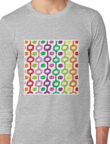Ipanema beach pattern Long Sleeve T-Shirt