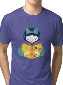 bookworm girl Tri-blend T-Shirt