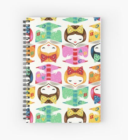 bookworm girl Spiral Notebook