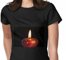Candle heart 2 Womens Fitted T-Shirt