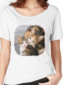 Mother Cat Loves Cute Kitten Women's Relaxed Fit T-Shirt