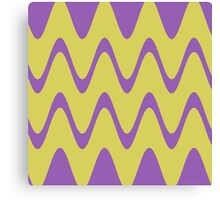 Yellow Purple Abstract Waves Canvas Print