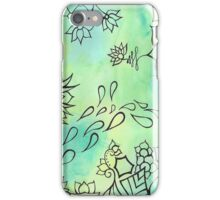 watercolor doodle iPhone Case/Skin