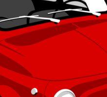 Classic Fiat 500L red Sticker