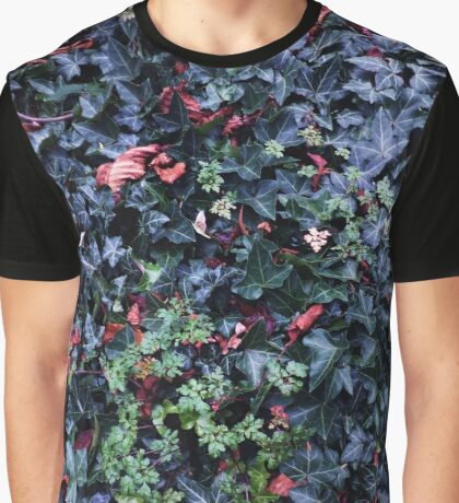 Ivy Covered Tomb Stone Graphic T-Shirt