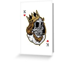 Royal Skull King T-Shirt Greeting Card