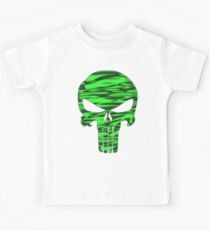Punisher Skull Green  Kids Tee