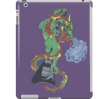 new raging dragon and guitar iPad Case/Skin