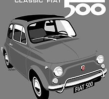 Classic Fiat 500L grey by car2oonz