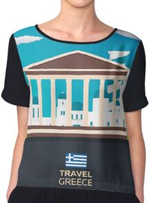 Travel to Greece skyline Chiffon Top