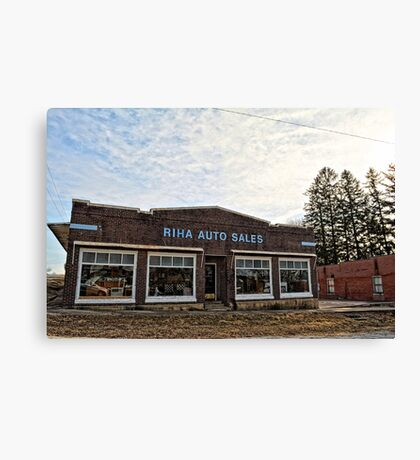 Riha Auto Sales Canvas Print