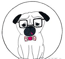 Hipster Pug by J. L. Gould