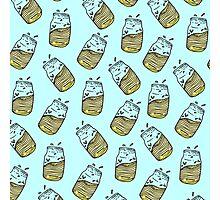 Cute Lemonade Mason Jar Summer Drink Teal Pattern Photographic Print