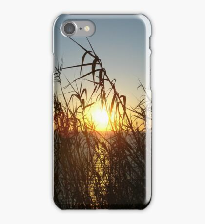 Listening to the sound of sunset iPhone Case/Skin