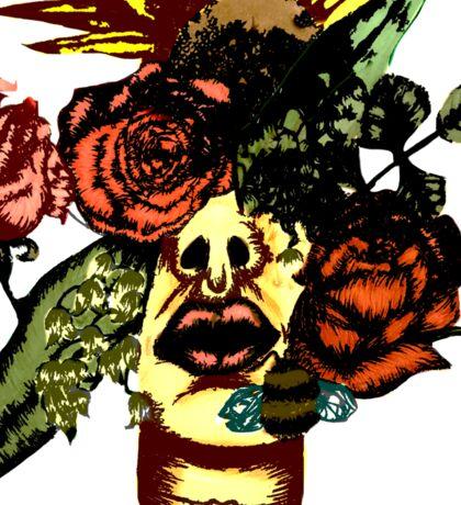 Flower face #1 Sticker