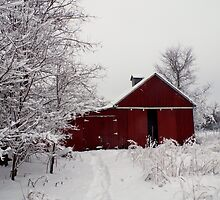 Winter Barnscape - Indiana by knitspinfarm