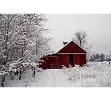 Winter Barnscape - Indiana Photographic Print