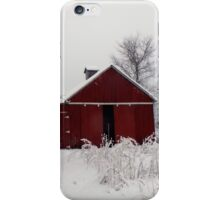 Winter Barnscape - Indiana iPhone Case/Skin