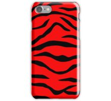 Red and Black Tiger Stripe iPhone Case/Skin