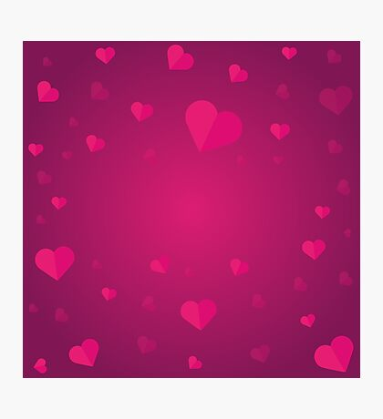 Valentines Day. Background with hearts Photographic Print