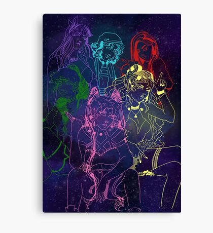 Future Senshi Space Babes!! Canvas Print