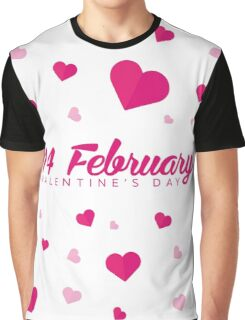 Valentines Day. Background with hearts. 14 February Graphic T-Shirt