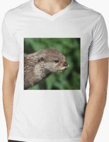 Asian Short-Clawed Otter Mens V-Neck T-Shirt