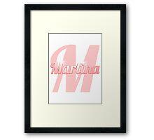 Baby Martina is a Superstar Framed Print