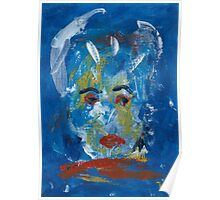 Abstract Face Broken Mirror Poster