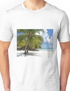 Palm Trees, Blue Skies and White Sand Unisex T-Shirt