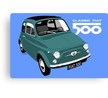 Classic Fiat 500 green Canvas Print