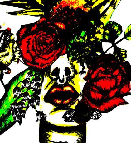 Flower face #2 Sticker