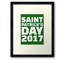 Saint Patricks day 2017 Framed Print