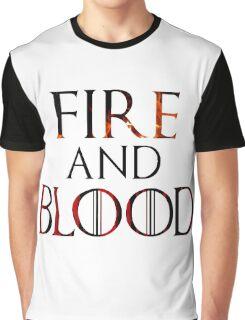 Targaryen Fire and Blood Graphic T-Shirt