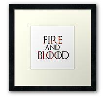 Targaryen Fire and Blood Framed Print