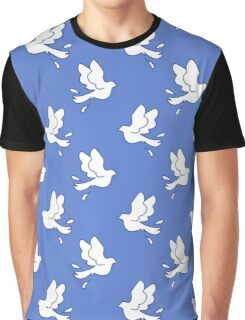 Peace Dove Pattern Graphic T-Shirt