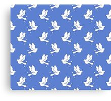 Peace Dove Pattern Canvas Print