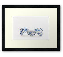 Japanese Tea Bowls, Blue on White Framed Print