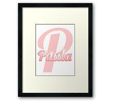 Baby Paula is a Superstar Framed Print