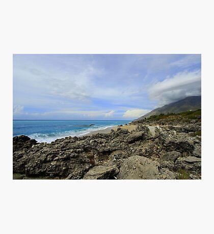 Calm Seacoast - Travel Photography Photographic Print