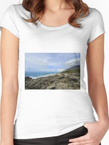 Calm Seacoast - Travel Photography Women's Fitted Scoop T-Shirt